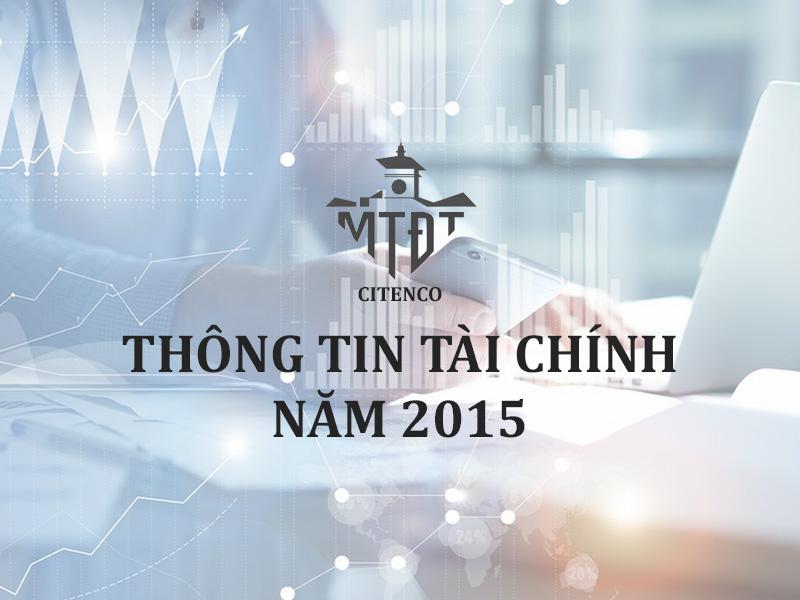 Thông tin tài chính năm 2015