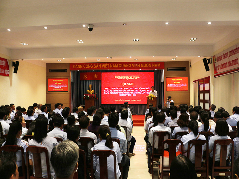 Hội nghị học tập quán triệt NQĐH Đảng bộ TP.HCM lần thứ XI và NQĐH Đảng bộ Khối Doanh nghiệp TP lần thứ II