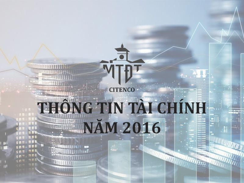 Thông tin tài chính năm 2016