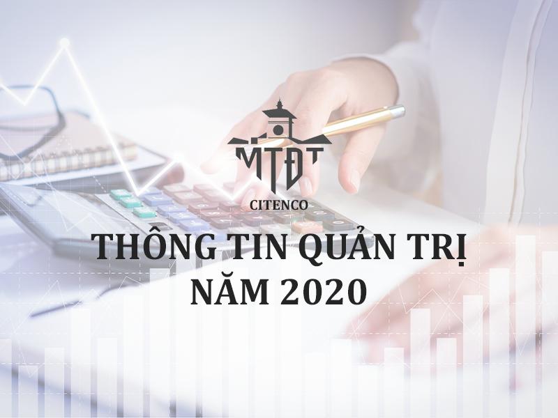 THÔNG TIN QUẢN TRỊ NĂM 2020