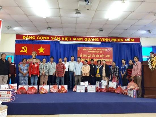Công ty thăm và tặng quà Tết Mậu Tuất tại các địa bàn hoạt động trong thành phố
