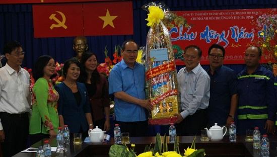 Đoàn lãnh đạo Thành Ủy thăm và chúc tết  Mậu Tuất Chi nhánh MTĐT Gia Định